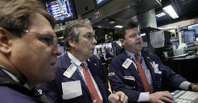 Stocks stabilize as crude prices ease; Dow off 37