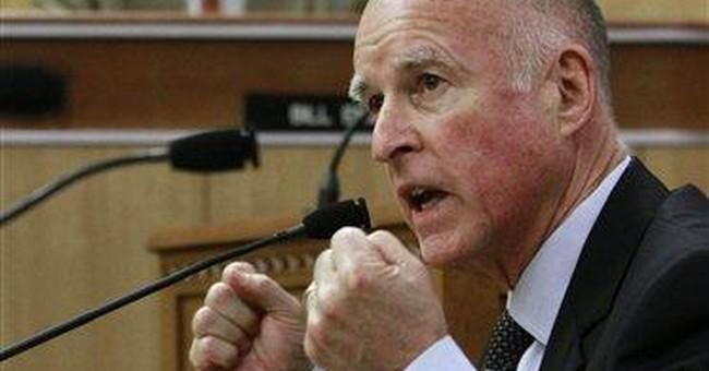 Brown debates lawmakers in rare budget exchange
