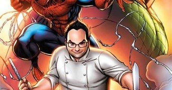 In new download, Spidey teams with a Top Chef