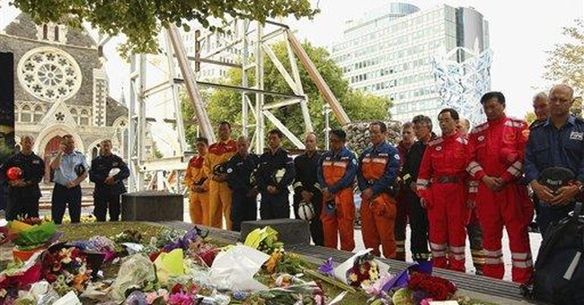 NZ mourns quake dead with 2 minutes of silence