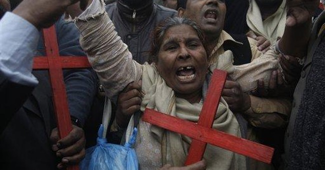 Pakistani Christians protest after slaying