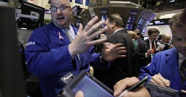 Stocks edge higher on jobs news, Fed survey