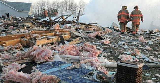 Ohio house explodes, killing woman and grandson