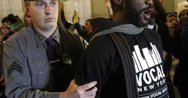 Protesters block stairs, halls in NY Capitol