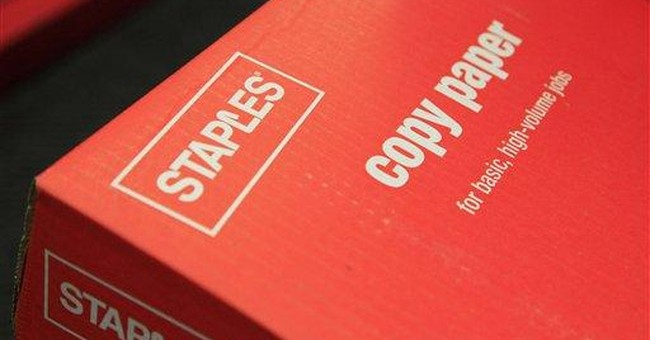 Staples 4Q net rises but misses expectations