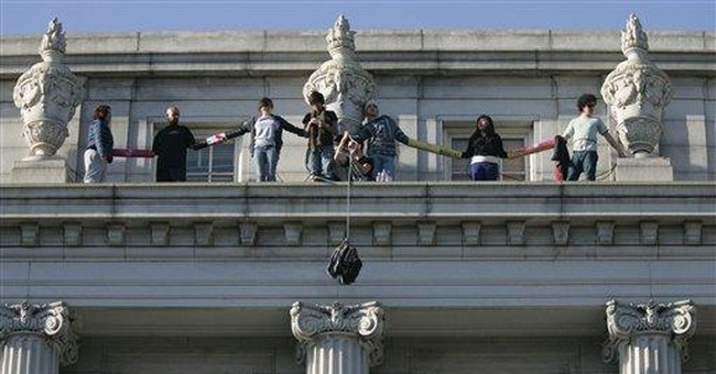 Protesters end ledge protest at UC Berkeley