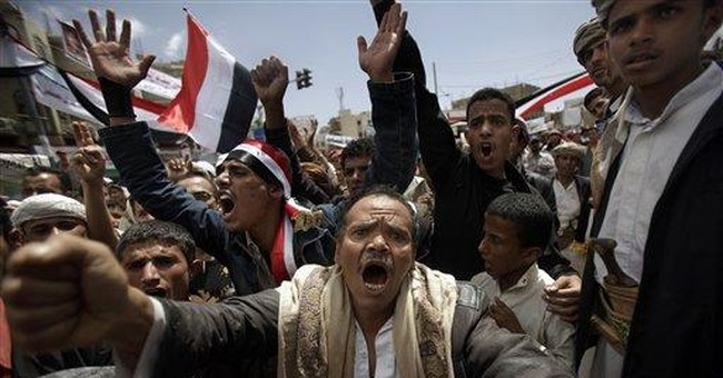 Government supporters attack protesters in Yemen
