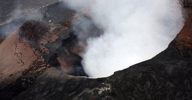 Lava spews 100 feet from Hawaii volcano's new vent