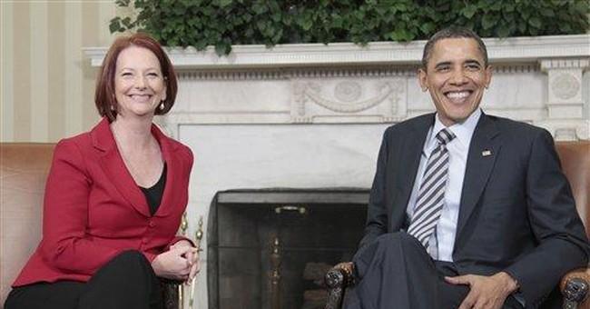Obama takes Australian prime minister to school