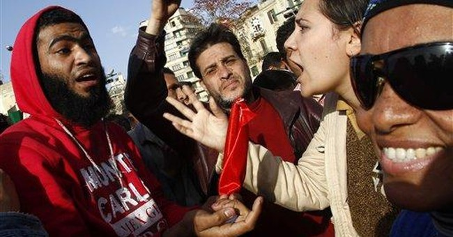 Egyptian women's rights protest marred by hecklers