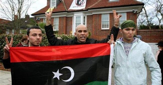 Activists occupy Gadhafi mansion in London