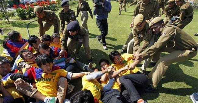 Dozens of Tibetan protesters detained in India