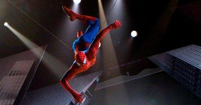 'Spider-Man' performance stops with stuck Goblin