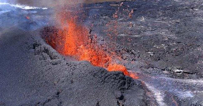 Lava from Hawaii volcano eruption sparks wildfire