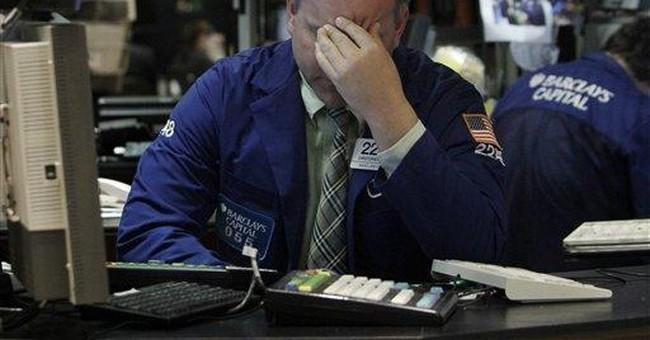 Stocks plunge on economic news, oil price swings