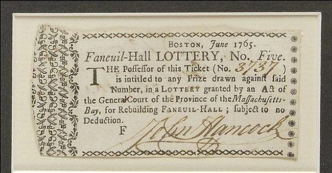 Lottery ticket signed by John Hancock is auctioned