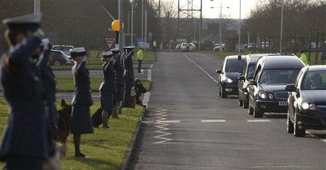 UK soldier, loyal dog, make final journey together