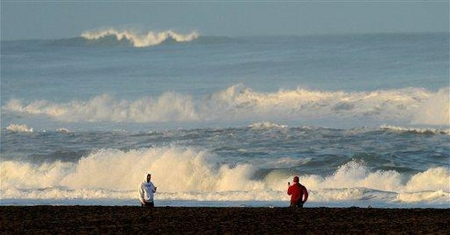 California surfers waited in water for tsunami