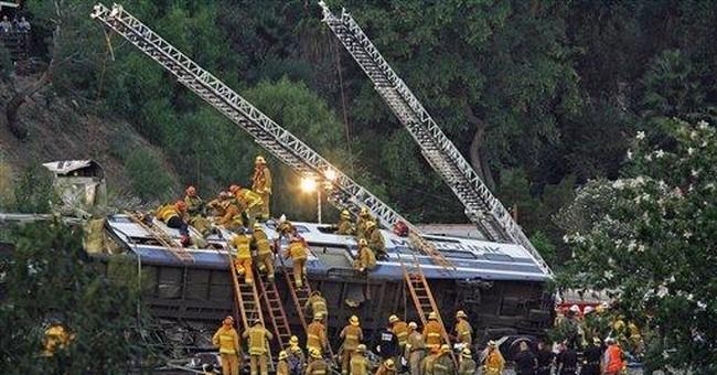 Train crash survivors present claims to LA judge