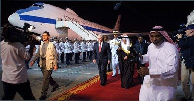 Gates meets with leaders of Bahrain