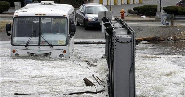 Rain-swollen East Coast waterways slowly recede