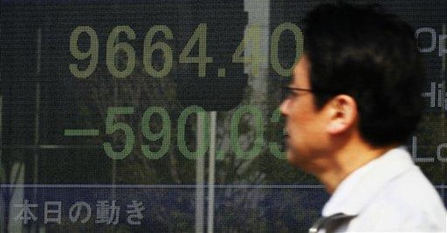 Nikkei plunges on 1st trading day after quake