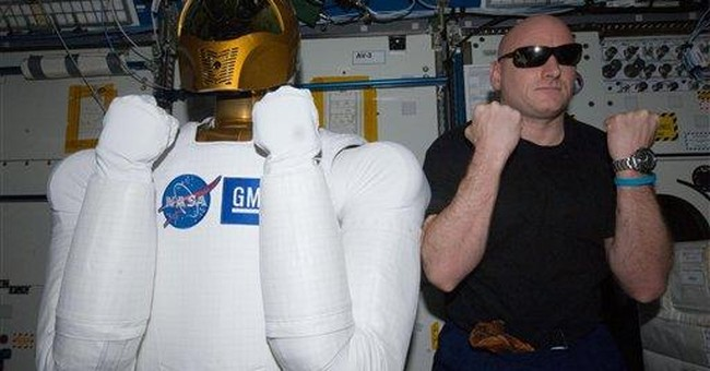 NASA's humanoid robot unveiled on space station