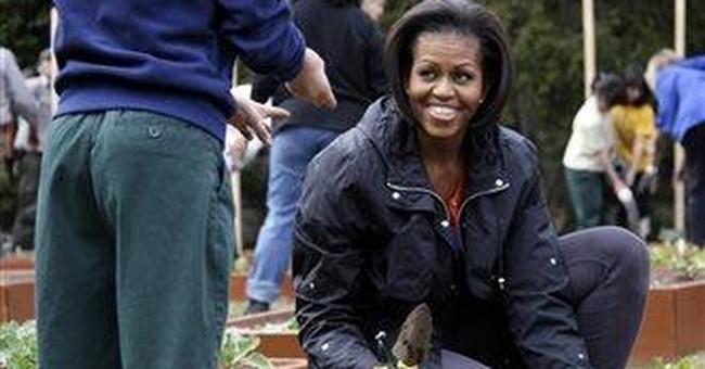 Michelle Obama replants White House garden