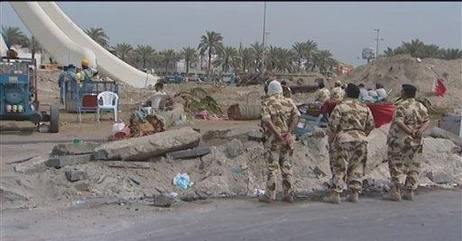 Bahrain army demolishes monument at Pearl Square