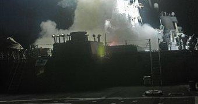 First wave of allied assault: 112 cruise missiles