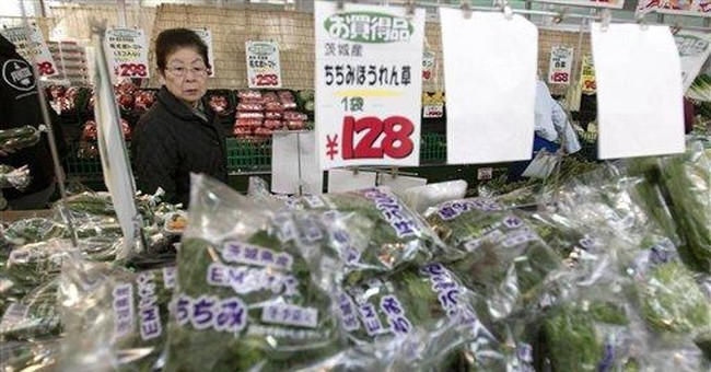 So far, risk low from radiation in food in Japan