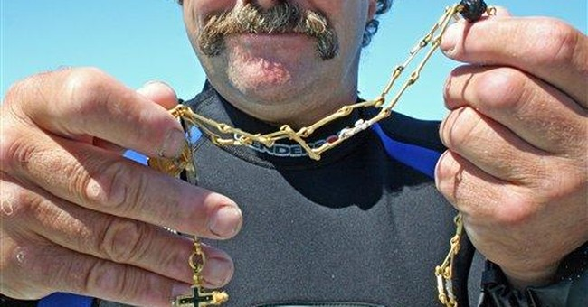 Shipwreck divers find antique gold chain off Fla.