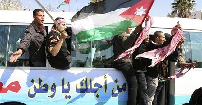 Supporters of Jordan's king take to streets