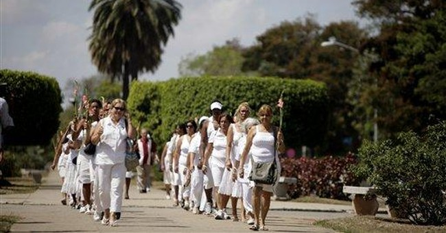 Cuba dissidents march again after relatives freed