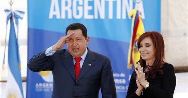 Hugo Chavez, journalism award-winner in Argentina