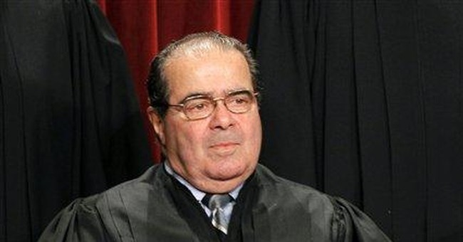 Scalia ticketed after fender-bender on way to work