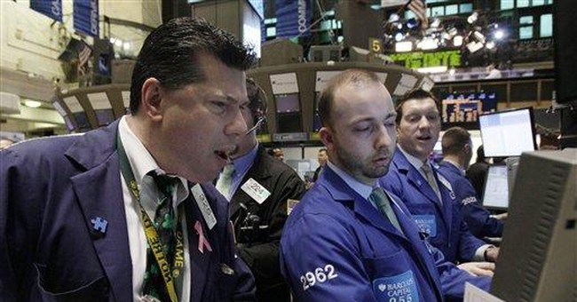 Stocks gain as confidence falls less than feared