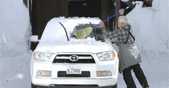 Near-record Sierra snow good news to parched Calif