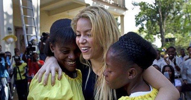 Shakira helps rebuild Haiti school