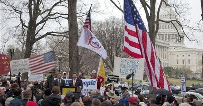 Tea party demonstrators say no to compromise