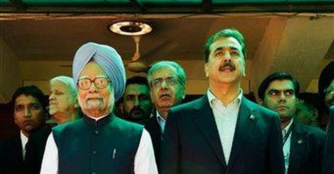 All smiles at summit of India, Pakistan PMs
