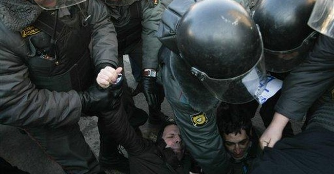 150 detained in Russian protests