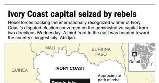 Rebels in Ivory Coast besiege Abidjan