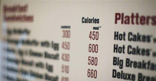 FDA proposes calorie counts on menus