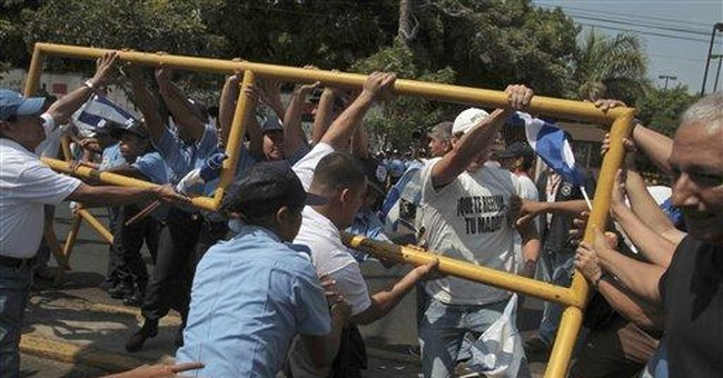 4 police injured in Nicaragua opposition protests