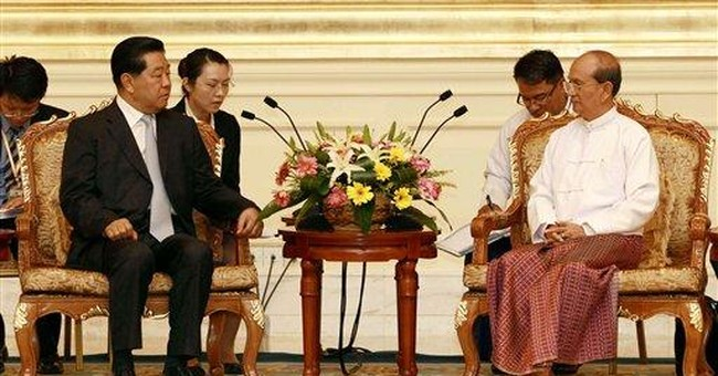 Myanmar president meets with top Chinese official