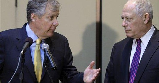 Caterpillar CEO, Ill. gov. talk business concerns