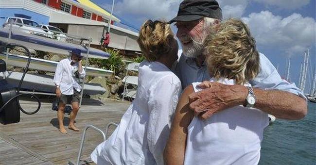 Sailor, 85, crosses Atlantic on raft with friends