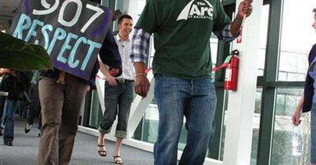 Men in heels march for anti-rape message