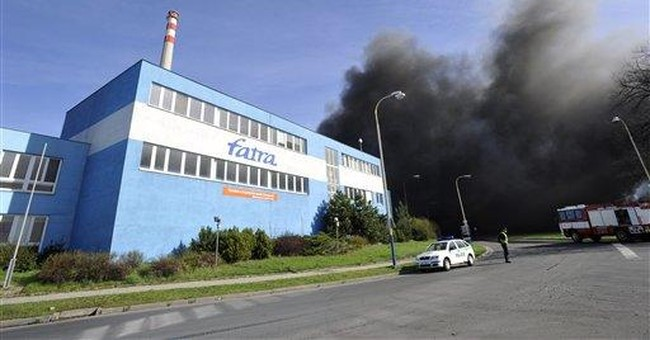 Fire at plastics factory in eastern Czech Republic